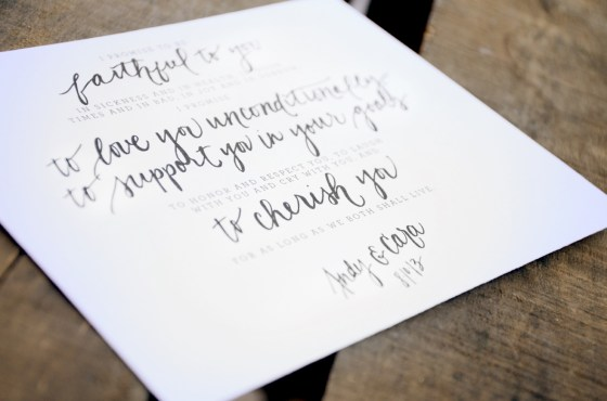 Your New Friend Sam Etsy Whimsical Handwritten Wedding Vows Andy Cara 455