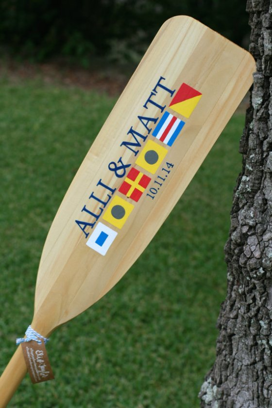 elise taylor - Nautical Flag Paddle