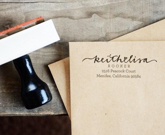 Your New Friend Sam Address Stamp - Keith <3 Lisa