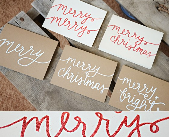 Your New Friend Sam Handwritten Embossed Christmas Cards