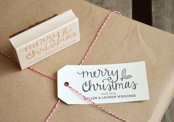 Your New Friend Sam, Merry Christmas Rubber Stamp