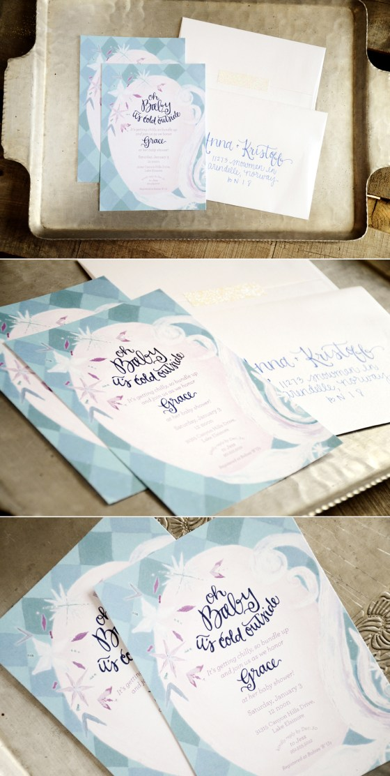 Frozen Inspired Oh Baby Its Cold Outisde Baby Shower Invitation from Your New Friend Sam on Etsy
