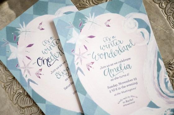 Frozen Inspired Winter Onederland Wonderland Birthday Invitation from Your New Friend Sam on Etsy 480