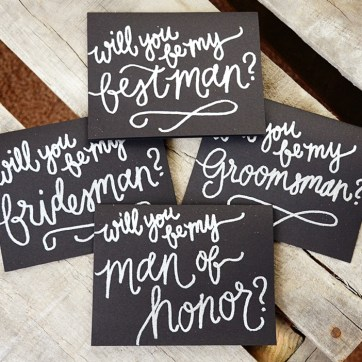 Silver Embossed Mens' Cards