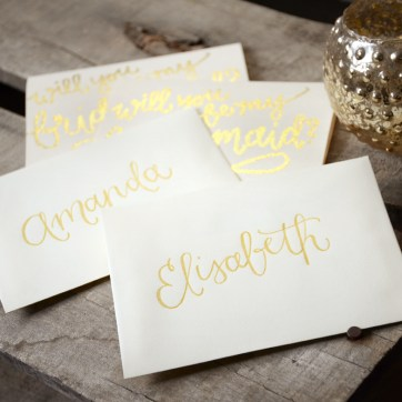 Personalized Cream Envelopes