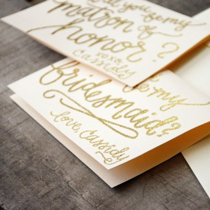 Personalized with signature from bride