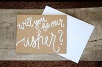 Kraft Brown with White Embossing