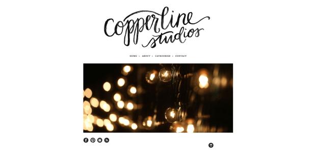 Kelly Dalton, Copperline Studios - Watercolor logo by Your New Friend Sam