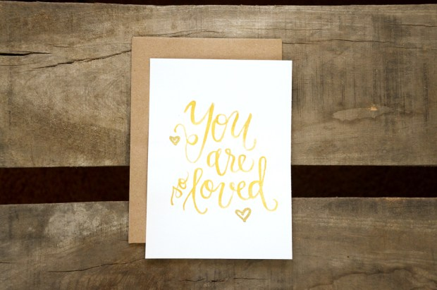 Sam Allen Creates Watercolor Handwritten You Are So Loved Print