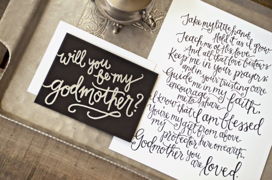 Your New Friend Sam, Godparent Invitation and Poem Printable