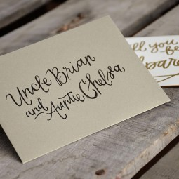 Godparent Invitations by Your New Friend Sam - Personalized Gold Envelopes
