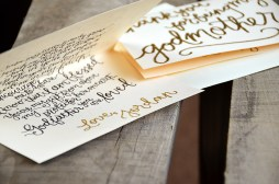 Thank You For Being My Godmother Personalized Poem and Signature Detail by Your New Friend Sam - Cream Cardstock with Gold Embossing