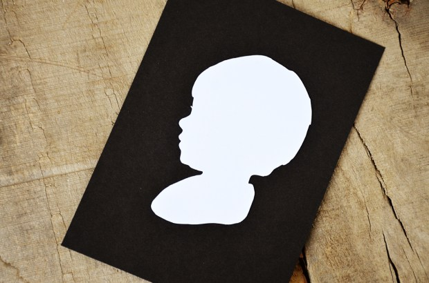 Your New Friend Sam White Papercut Silhouettes on Black 089