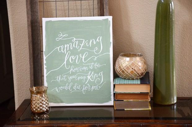 Amazing Love Handpainted Canvas
