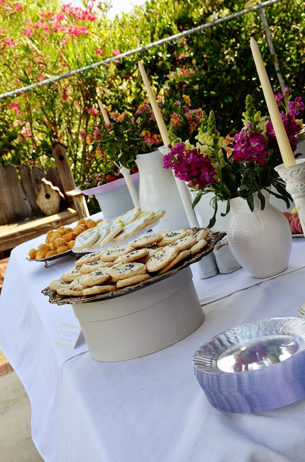 french country baby shower bebe soiree dessert table 2