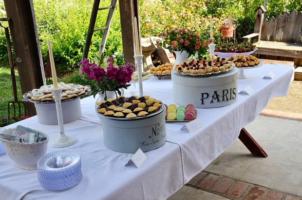 french country baby shower bebe soiree dessert table 3