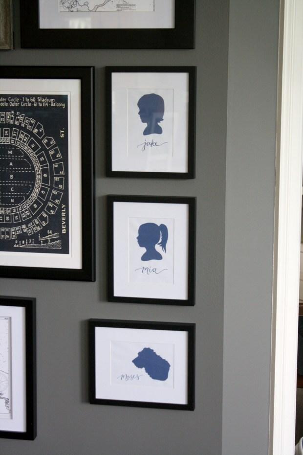 Your New Friend Sam - Digital Silhouettes Gallery Wall