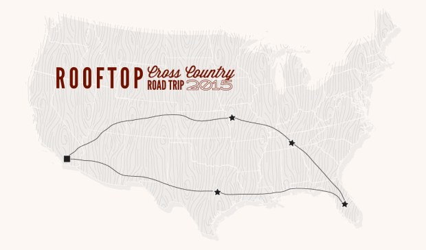 Rooftop Road Trip map