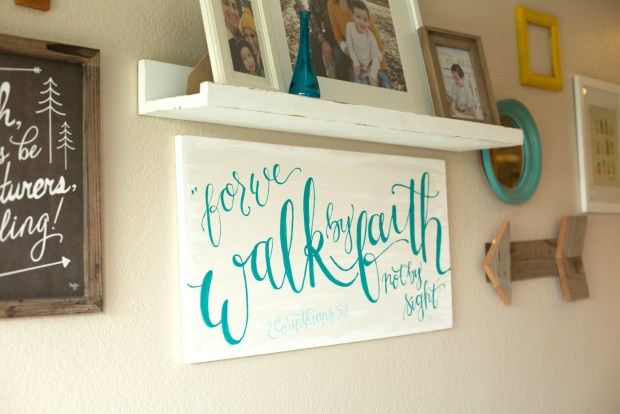 Walk by Faith Handpainted Canvas