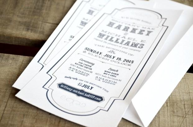 Western Victorian Wedding Invitation from Your New Friend Sam