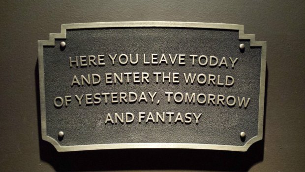 here you leave today plaque