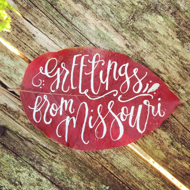 Sam Allen Creates Missouri Fall Leaf Lettering