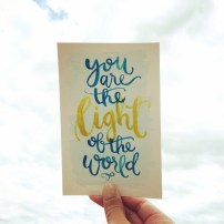 You Are the Light of the World, LetterItJuly by Sam Allen Creates