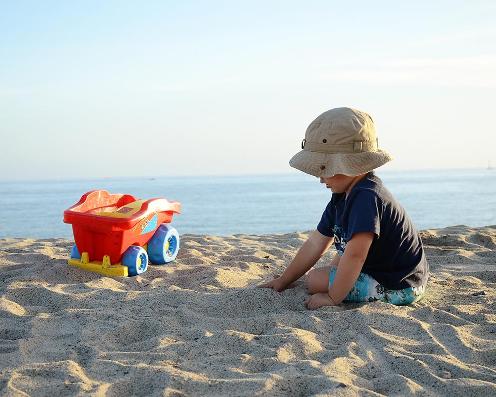 Owen at the Beach, September 2015