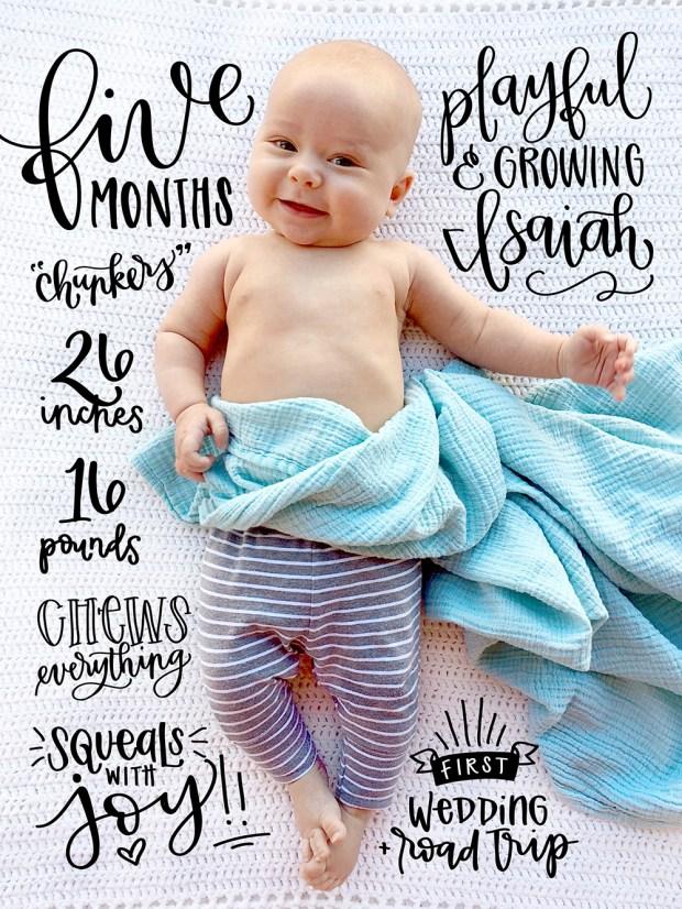 sam-allen-creates-handlettered-isaiah-baby-five-months