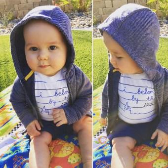 Isaiah 9 Months Backyard Fun 1