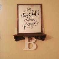 Sam Allen Creates for Hobby Lobby - For This Child We Have Prayed -B