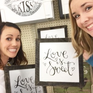Sam Allen Creates for Hobby Lobby - Love is Sweet -Courtney and Sara