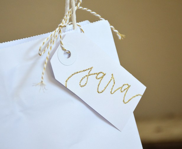 Your New Friend Sam Calligraphy Handwritten Name Tag Wedding Placecards Embossed 4