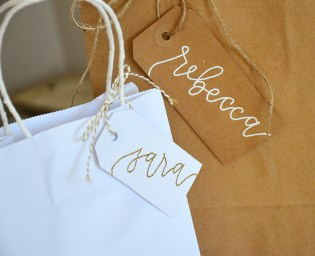Your New Friend Sam Calligraphy Handwritten Name Tag Wedding Placecards Embossed 6