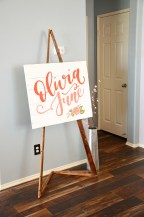 Shabby Chic Baby Shower Handpainted Wood Name Sign