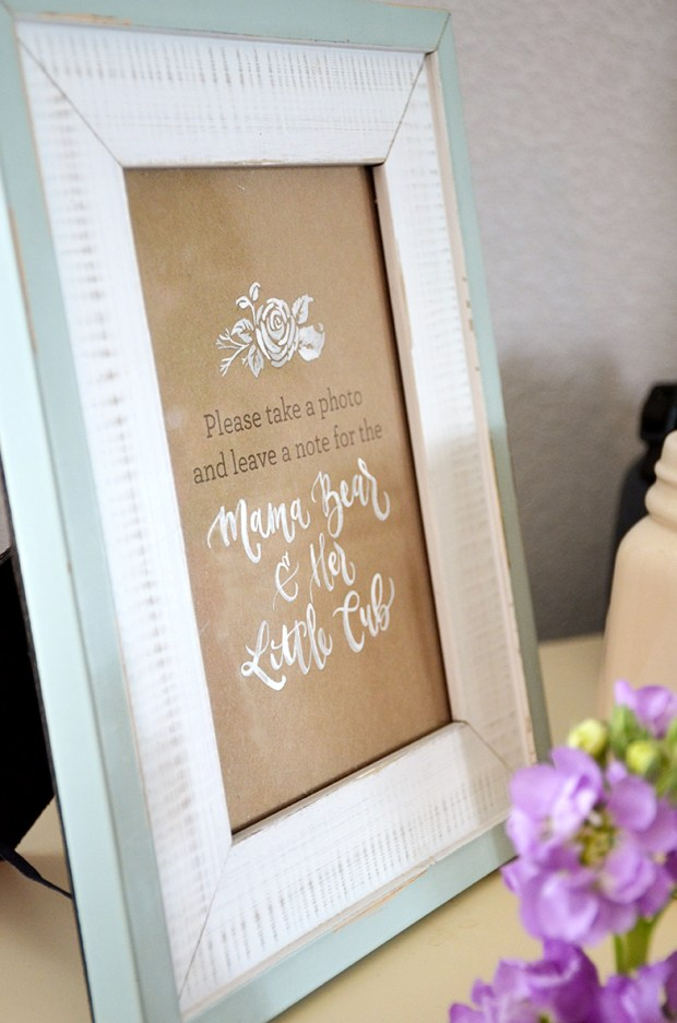 Shabby Chic Tribal Baby Shower Guest Book table sign
