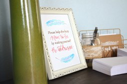Shabby Chic Tribal Baby Shower Thank You Cards table 2