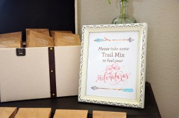 Shabby Chic Tribal Baby Shower Trail Mix Favors Sign