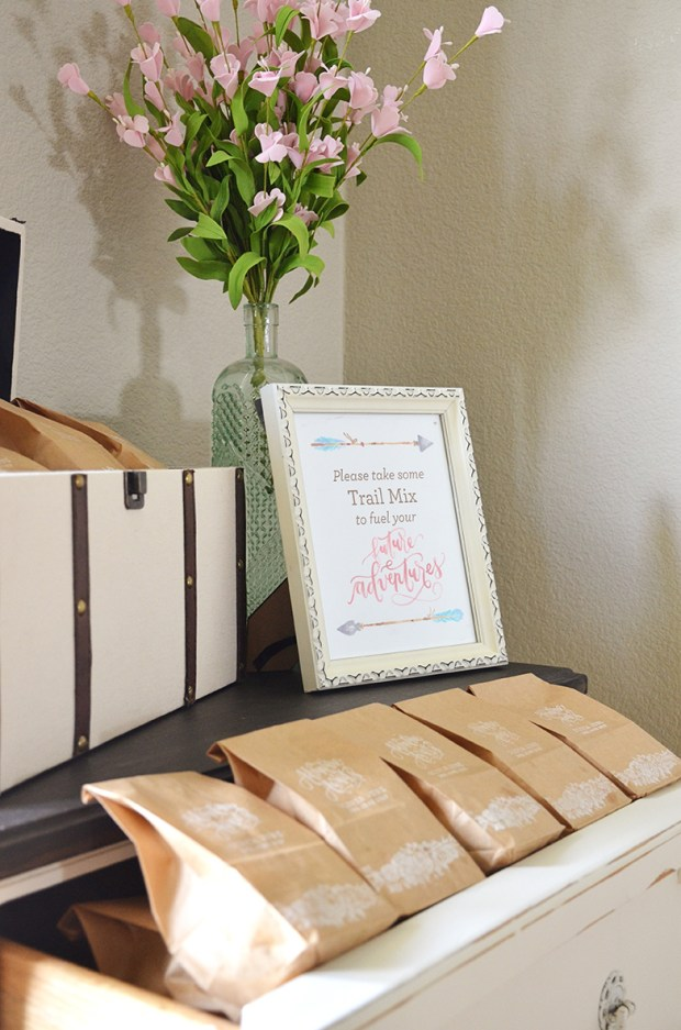 Shabby Chic Tribal Baby Shower Trail Mix Favors Table 2