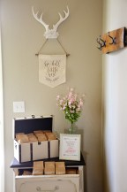 Shabby Chic Tribal Baby Shower Trail Mix Favors Table