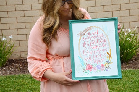 Shabby Chic Tribal Watercolor Wreath Painting