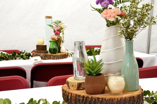 Shabby Chic Woodsy Baby Shower Centerpieces