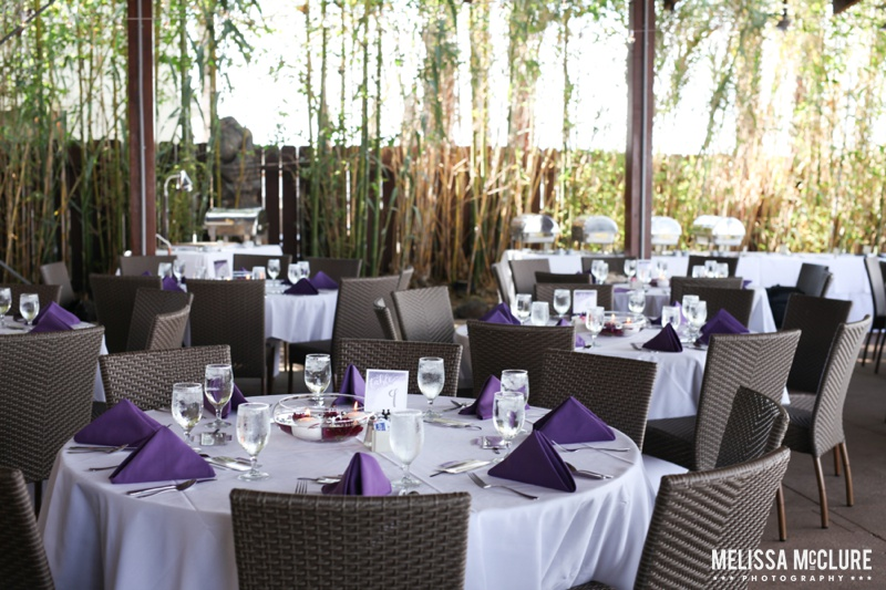 Sam Allen Creates Watercolor Wedding Reception Bali Hai - Photo by Melissa McClure 2