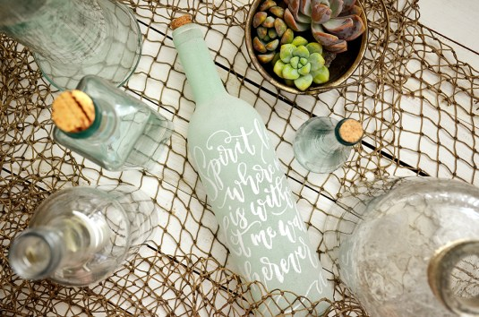 Sam Allen Creates - Isaiah's First Birthday - Under the Sea Birthday Decorations - Handlettered Bottle - Oceans lyrics 1