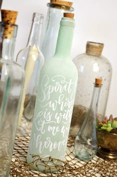 Sam Allen Creates - Isaiah's First Birthday - Under the Sea Birthday Decorations - Handlettered Bottle - Oceans lyrics 2