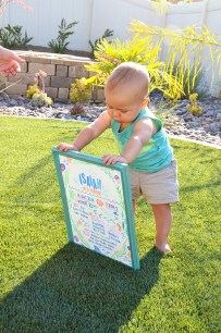 Sam Allen Creates - Isaiah's First Birthday - Under the Sea Birthday One Year Poster 3