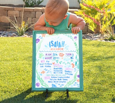 Sam Allen Creates - Isaiah's First Birthday - Under the Sea Birthday One Year Poster 5