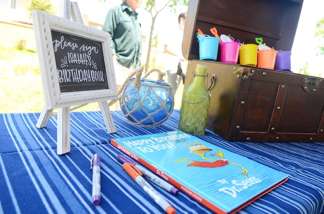 Sam Allen Creates - Isaiah's First Birthday - Under the Sea Birthday Party - Guest Book