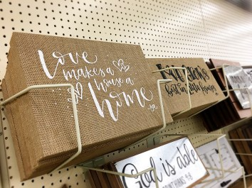 Love Makes a House a Home - Hobby Lobby, Lettering by Sam Allen Creates web