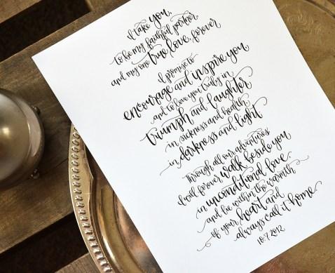 Sam Allen Creates Handwritten Wedding Vows